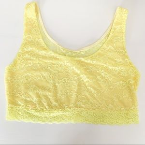 PINK Victoria's Secret | Yellow Lace Crop Bra L